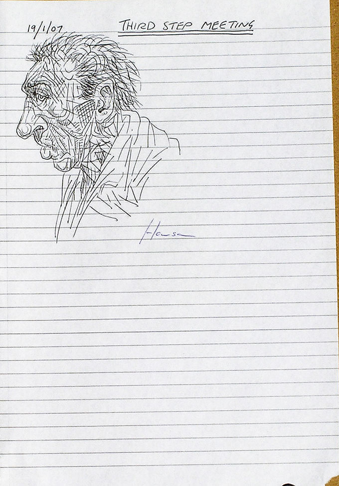 sketch of tramp-peter howson