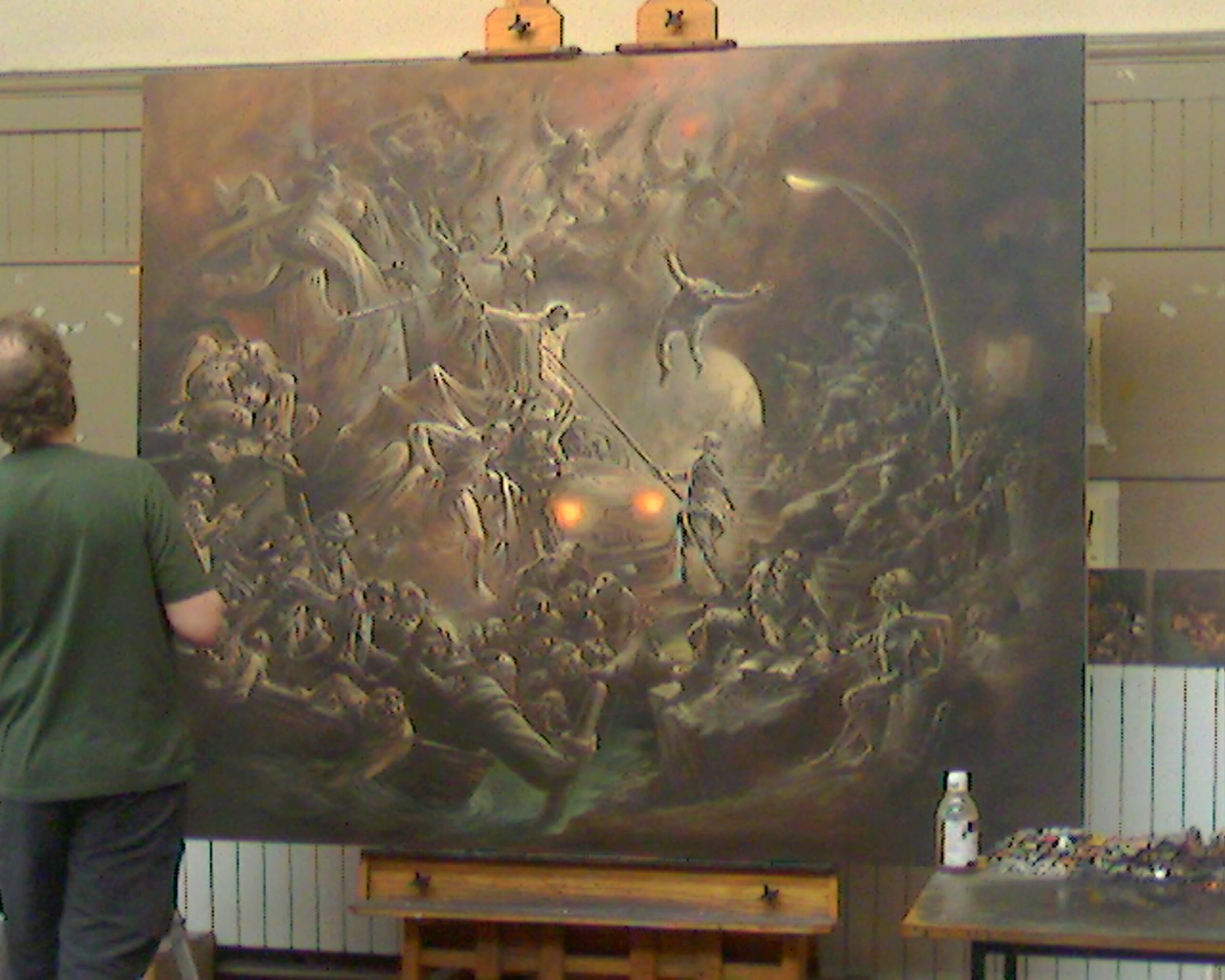 large oil by peter howson